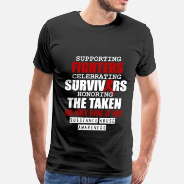 Kick Rocks Funny fighters- supporting fighters celebrating surviver - Men's Premium T-Shirt
