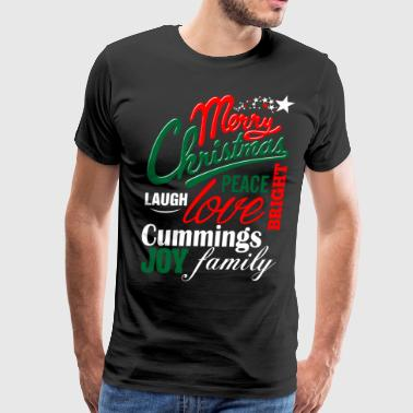 Merry Christmas Laugh Peace Love Bright Joy Cummin - Men's Premium T-Shirt