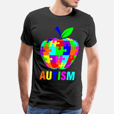 Apple Support Autism With Apple - Men's Premium T-Shirt