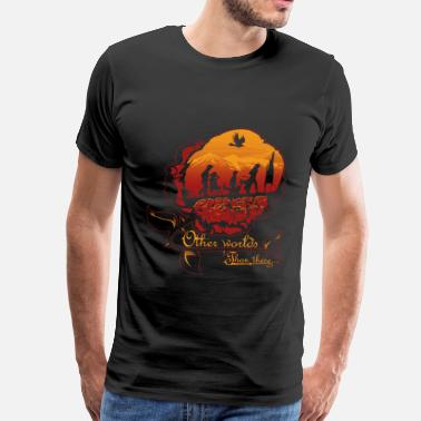 Stephen King Dark tower- other world than these - Men's Premium T-Shirt