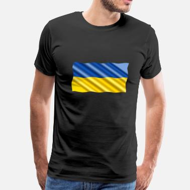 Arms Sportswear Ukraine Flag - Men's Premium T-Shirt