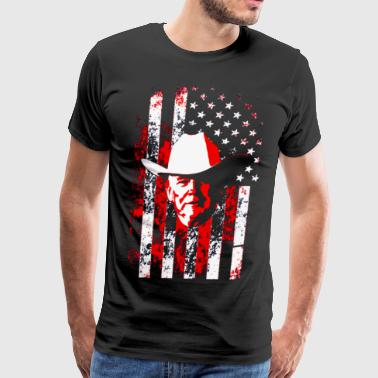 Trump Flag Cowboy Donald Trump - Men's Premium T-Shirt