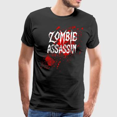 Zombie Assassin Blood Splatter - Men's Premium T-Shirt