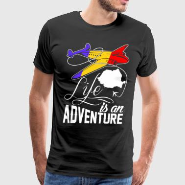 Romanian Life Is An Adventure - Men's Premium T-Shirt