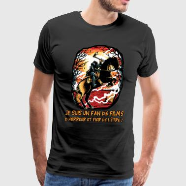 I'm a fan of horror movies - Men's Premium T-Shirt
