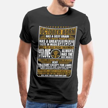 Born As Libra October Libra Born - Men's Premium T-Shirt