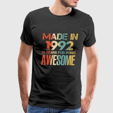 Marche %26 Made In 1992 26 Years Of Awesomeness t-shirt - Men's Premium T-Shirt