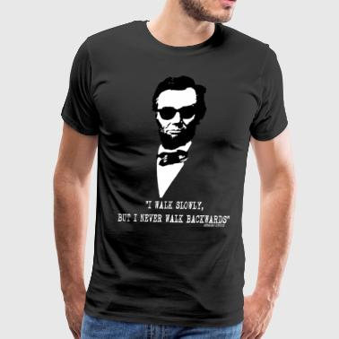 Abe Lincoln With Sunnies - Men's Premium T-Shirt