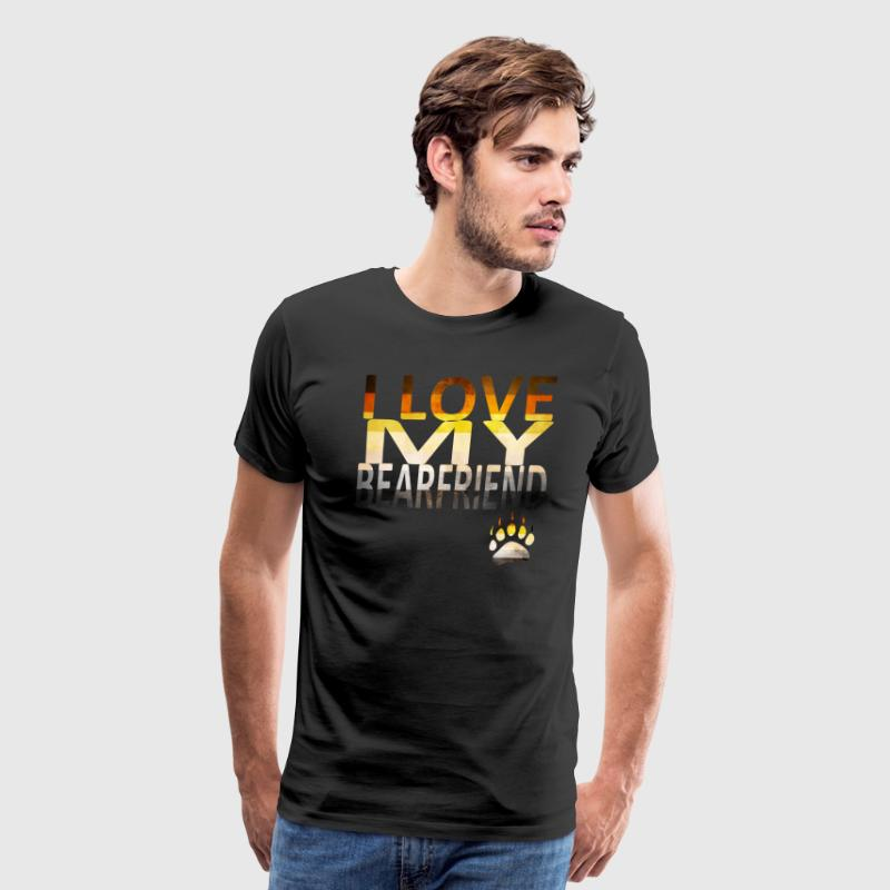I Love My Bear - Men's Premium T-Shirt