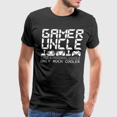 Gamer Uncle Like A Normal Uncle Only Much Cooler - Men's Premium T-Shirt