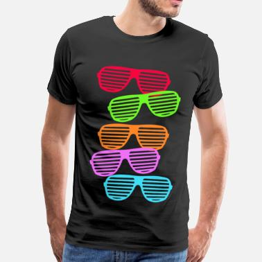 Neon Retro Sunglasses - Men's Premium T-Shirt