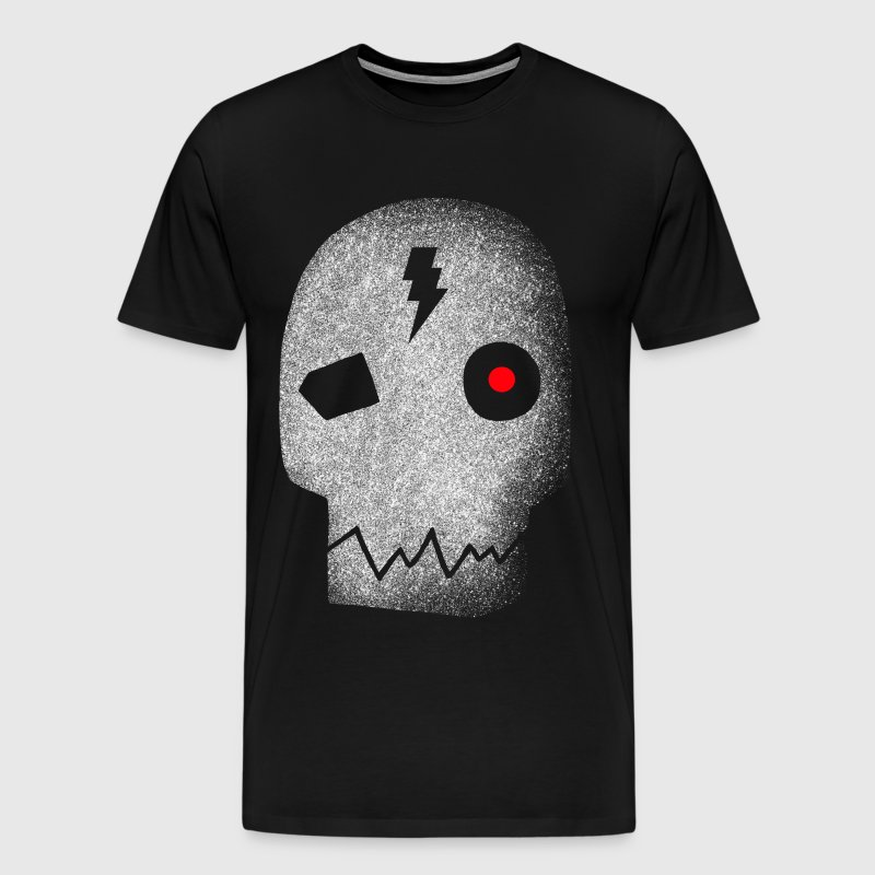 Cyborg skull red eye - Men's Premium T-Shirt