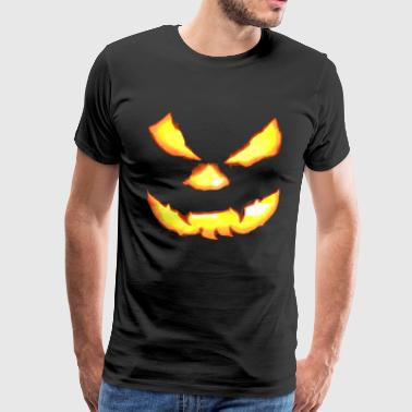 Scary Halloween Pumpkin Face - Men's Premium T-Shirt