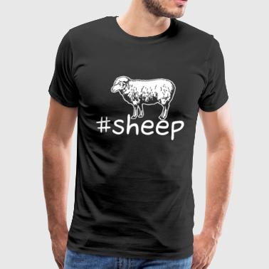 Sheep Hashtag Shirt - Men's Premium T-Shirt