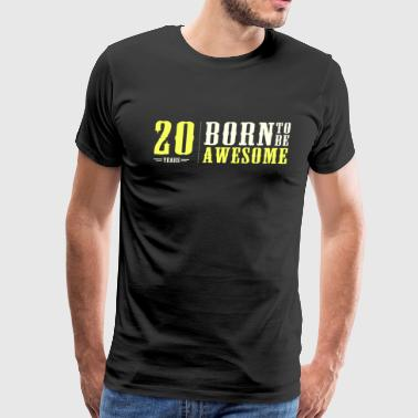 20 years 20th birthday - Men's Premium T-Shirt