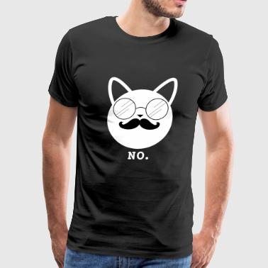 Sir Swag Hipster Cat No (w) - Men's Premium T-Shirt