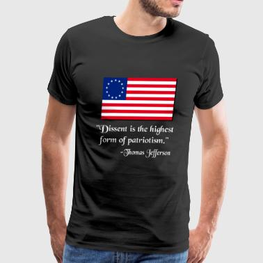 Dissent Patriotic Thomas Jefferson - Men's Premium T-Shirt
