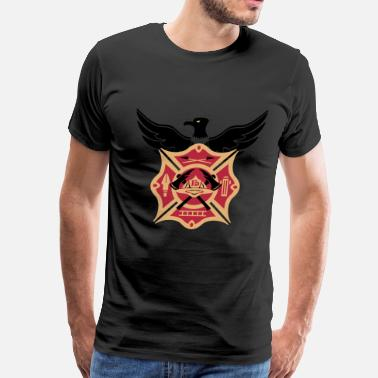 Fire Fighter fire fighter bird logo - Men's Premium T-Shirt