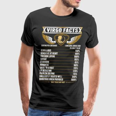 Virgo Facts Tshirt - Men's Premium T-Shirt