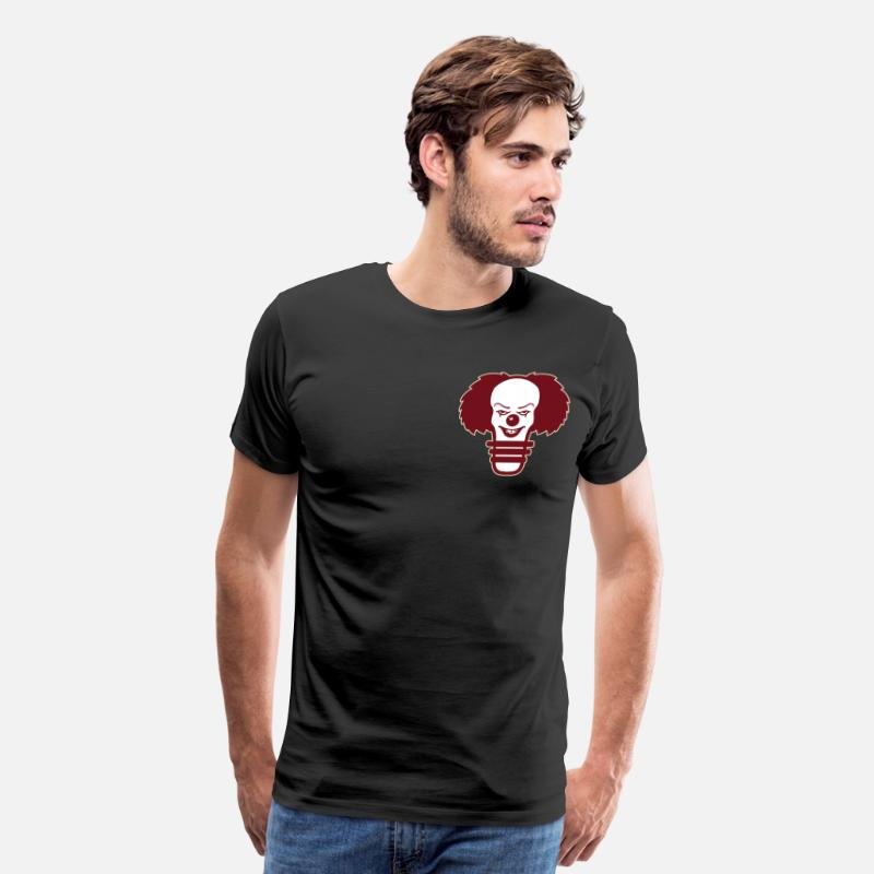 Pennywise T-Shirts - pennywise light bulb Burgundy - Men's Premium T-Shirt black