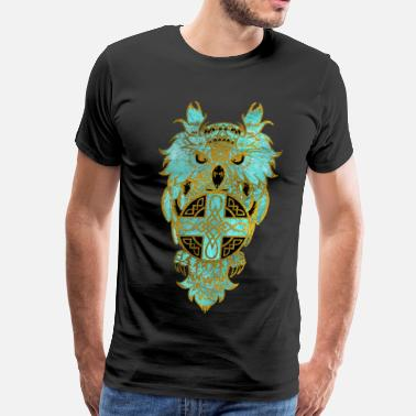Celtic Owls Owl with celtic cross - Men's Premium T-Shirt