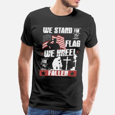 Fighter Jet We stand for the Flag - Men's Premium T-Shirt