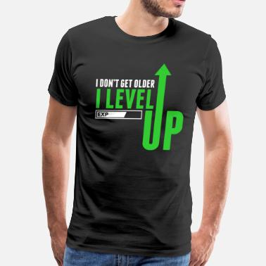 Gamers I Level Up Gamer Novelty Tshirt - Men's Premium T-Shirt