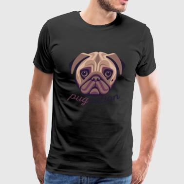 Pug Nation Brown Dog - Men's Premium T-Shirt
