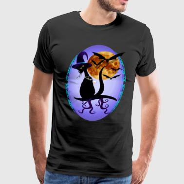 Bewitching Black Kitty Ov - Men's Premium T-Shirt