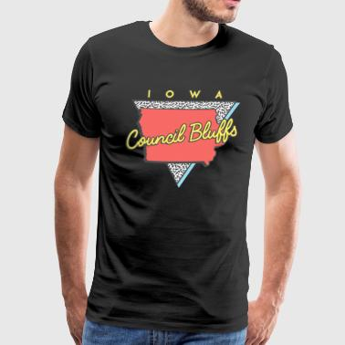 Council Council Bluffs Iowa Souvenirs IA Retro - Men's Premium T-Shirt