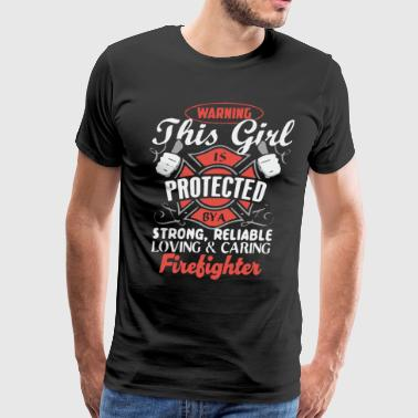 Protect by a Firefighter - Men's Premium T-Shirt