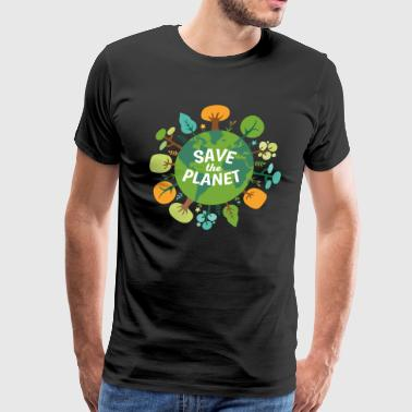 Ecology Gift Save The Planet Ecology T-shirt - Men's Premium T-Shirt