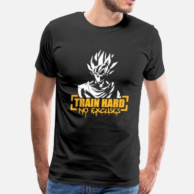 Vegeta Training Vegeta Train Hard No Excuses - Men's Premium T-Shirt