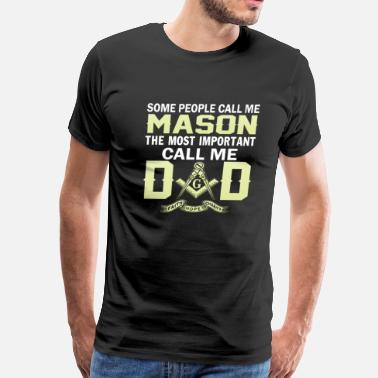 Masonic mason dad - Men's Premium T-Shirt