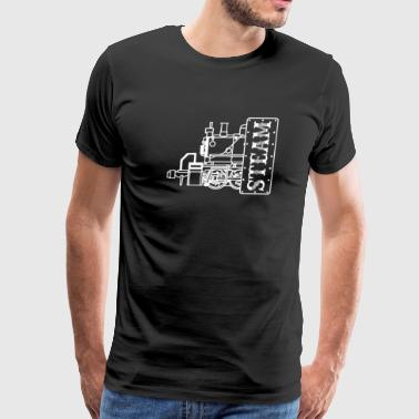 Steam Engine Locomotive - Men's Premium T-Shirt