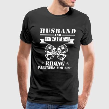 Husband And Wife Riding Partners - Men's Premium T-Shirt