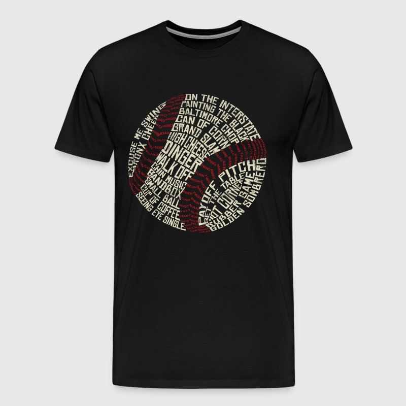 Baseball Typography - Men's Premium T-Shirt