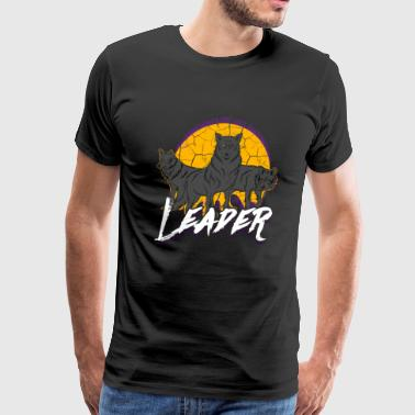 Wolves Pack Leader Wolf Animal - Men's Premium T-Shirt