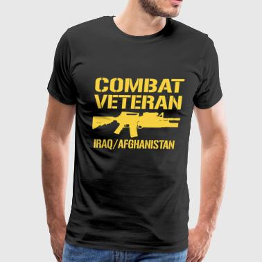 Combat Veteran Iraq and Afghanistan  - Men's Premium T-Shirt