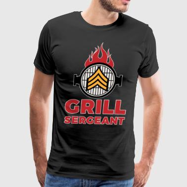 Grill Sergeant - Barbecue BBQ Grilling Meat - Men's Premium T-Shirt