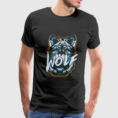 Lone Wolf Animal Predator - Men's Premium T-Shirt