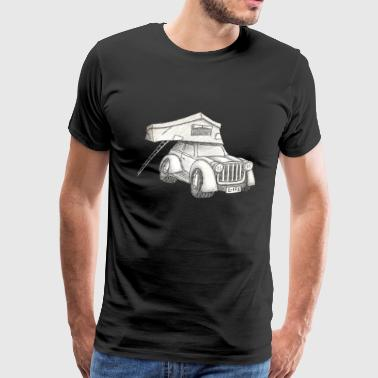 Rooftop Tent Camper Car Truck Summer Vacation Gift - Men's Premium T-Shirt