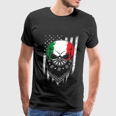 Cook Island Flag Italian - Italian living in america awesome Tshirt - Men's Premium T-Shirt