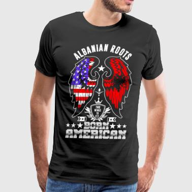Albanian Roots Born American - Men's Premium T-Shirt
