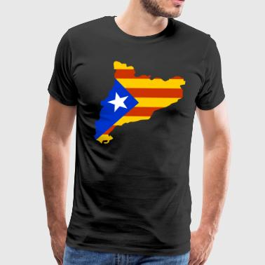 Autonom Catalonia map with flag - Men's Premium T-Shirt