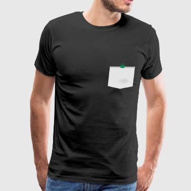 WEED MARIHUANA - FAKE POCKET TEE - Men's Premium T-Shirt