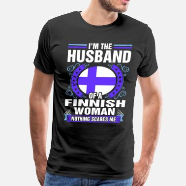 Finnish Im The Husband Of A Finnish Woman - Men's Premium T-Shirt