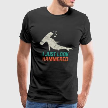 Animal Print - I Just look Hammered - Men's Premium T-Shirt