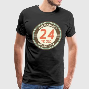 24th Birthday Vintage 24 - Men's Premium T-Shirt