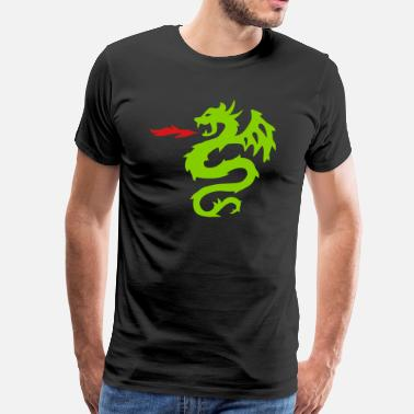 Green Dragon dragon - Men's Premium T-Shirt